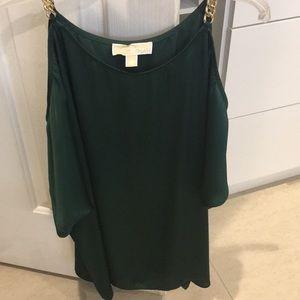 Emerald green woman's Michael Kors shirt